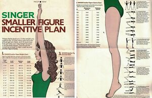 Glamour-Magazine-Vintage-SMALL-FIGURE-INCENTIVE-PLAN-Weight-Loss-Insert-Chart