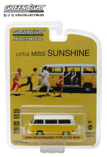 A.s.s nuevo GreenLight 1:64 Volkswagen VW t2 furgoneta Little Miss Sunshine Hollywood