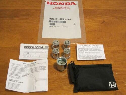 SEE VEHICLE LIST GENUINE OEM HONDA -USED--08W42-SNA-100 WHEEL LOCK SET-