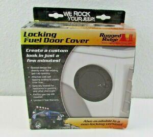 Jeep Wrangler 2007-2017 JK black stainless stl locking fuel door cover 11229.03