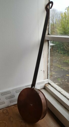 Vintage Antique Copper and iron long handled pan