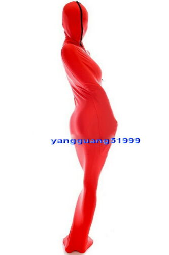 Unisex Sleeping Bag Red Lycra Mummy Suit Costumes With internal Arm Sleeves F039