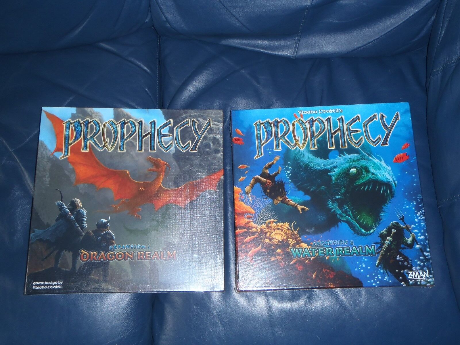 Z-MAN Prophecy DRAGON + WATER Realm Board Game Expansions  NEW + SEALED