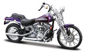 Maisto Harley Davidson 2001/Fxsts Springer Softail Blau 1//18 Modellmotorrad Modell Motorrad