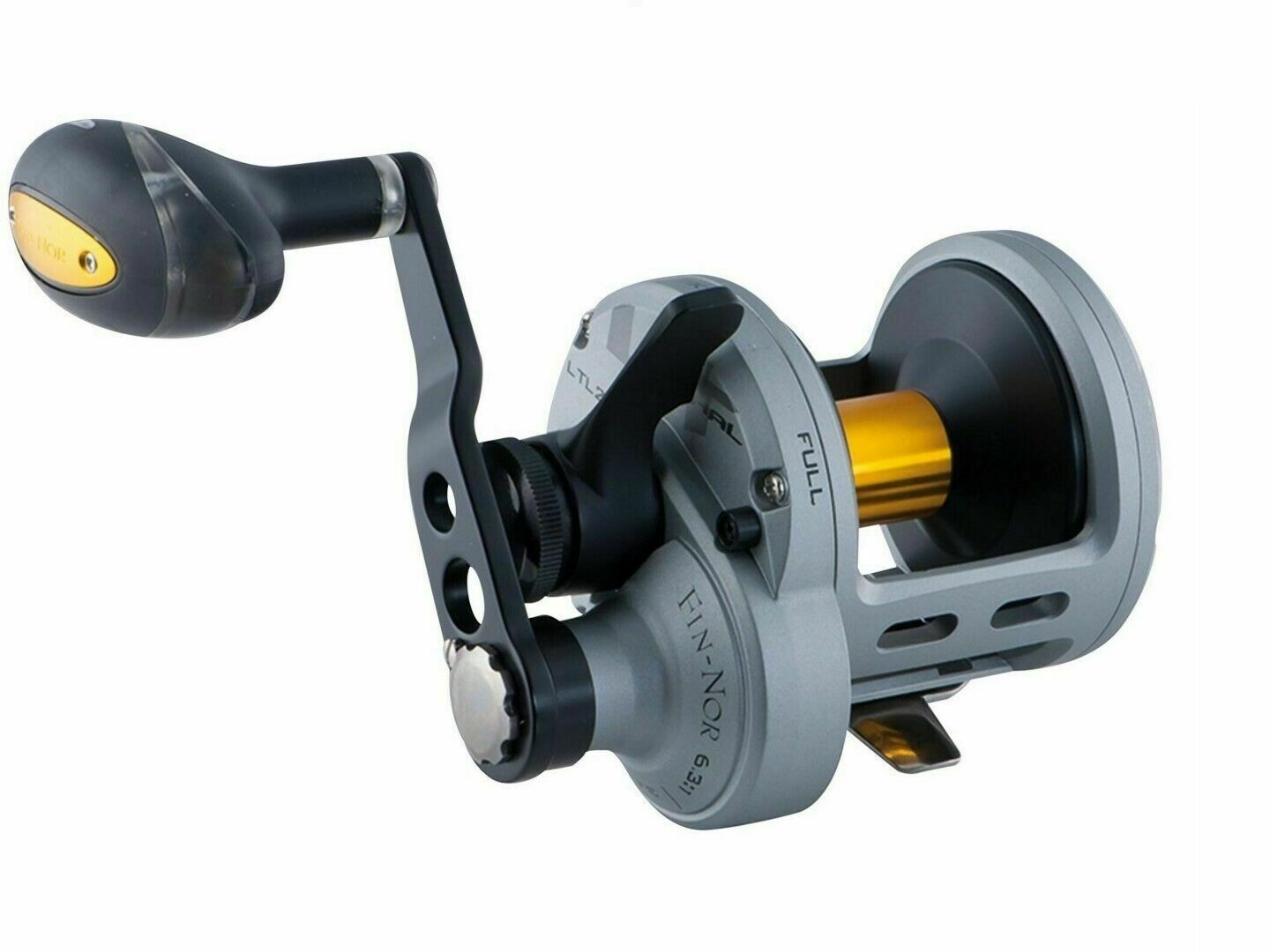 FinNor Lethal LTL30 OH Lever Drag Overhead pesca Reel  gratuito Line