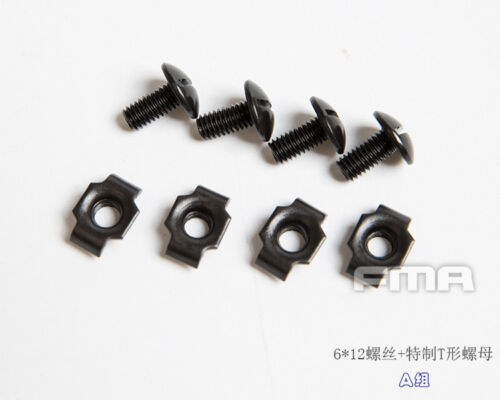 4pc//set FMA Special Fixing Screw Replacement Parts for Helmet Strap Guide Rail