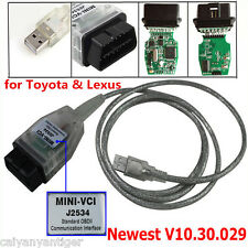 MINI-VCI J2534 OBDII USB Cable Diagnostic Scanner For Toyota Lexus TIS Code Scan