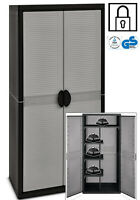 X-Large Plastic Garden Storage Cupboard. Garage Shed Outdoor Cabinet.  TDQ3900