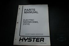 Hyster N30xmh C210 Electric Forklift Parts Catalog Manual Book Spare Lift Truck