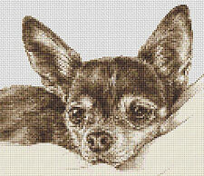 "Chihuahua Dog Counted Cross Stitch Kit Animals  9"" x 8"" Free P&P"