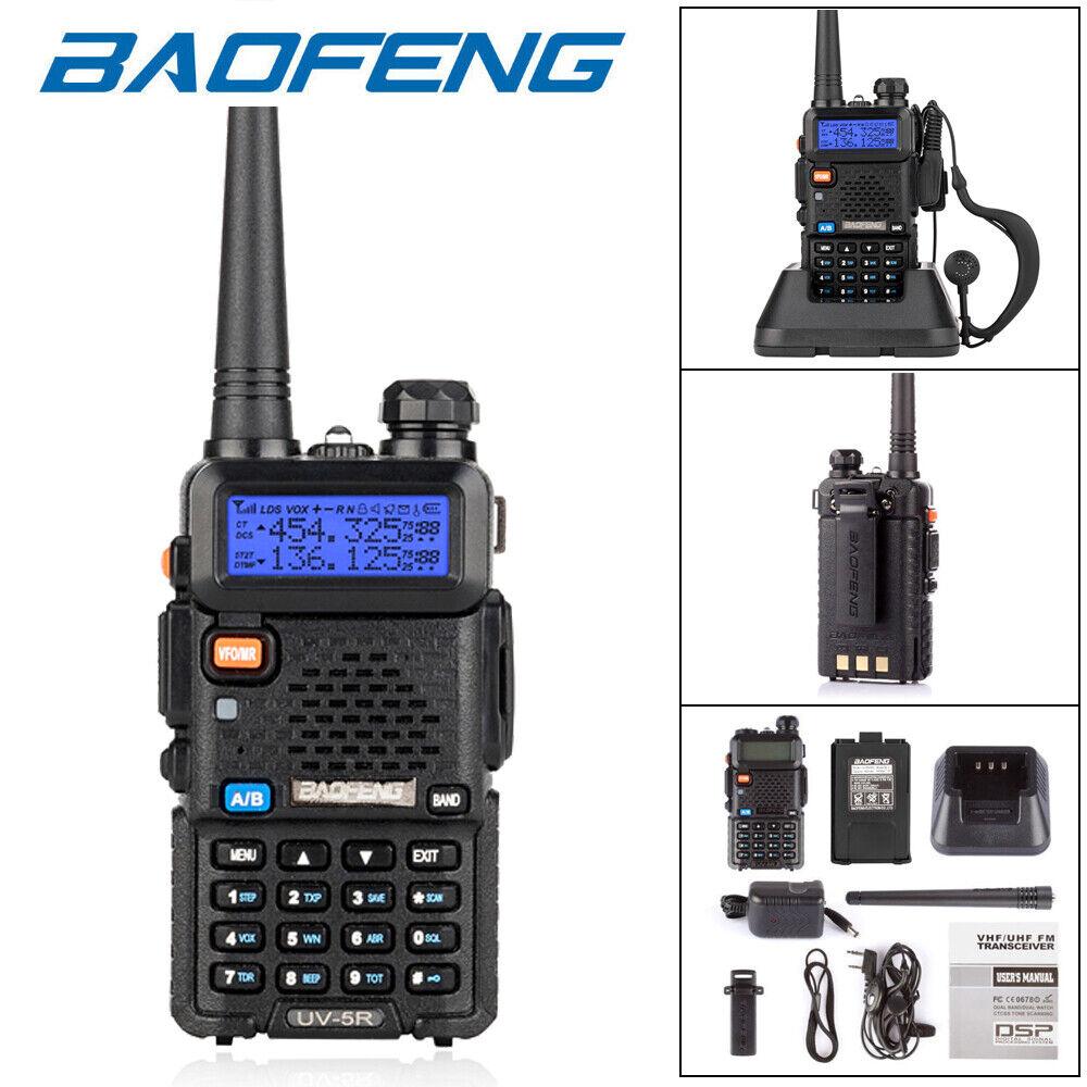 bytopok Baofeng UV-5R Two way Radios 5W VHF UHF FM Transceiver Ham Walkie Talkie Set