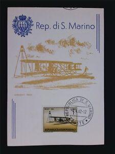 SAN-MARINO-MK-1962-FLUGZEUGE-WRIGHT-1904-MAXIMUMKARTE-CARTE-MAXIMUM-CARD-MCc7613