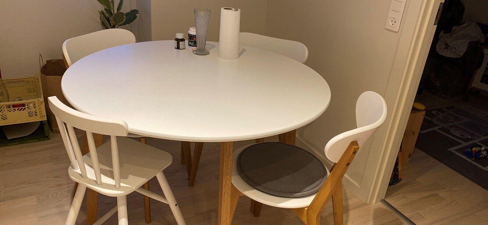 Spisebord mstole, Jegind fra