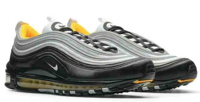 Nike Air Max 97 Black White Yellow Steelers Men S Size 12 For Sale