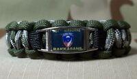 U.s. Army 187th Airborne Rakkasans 550 Paracord Survival Bracelet W/ Buckle