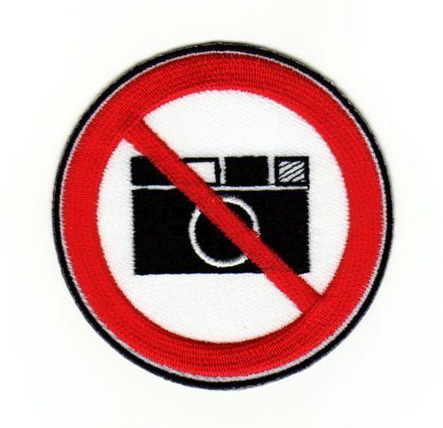 ag39 Bilder machen Fotos Fotografieren Verboten Aufnäher Bügelbild Applikation
