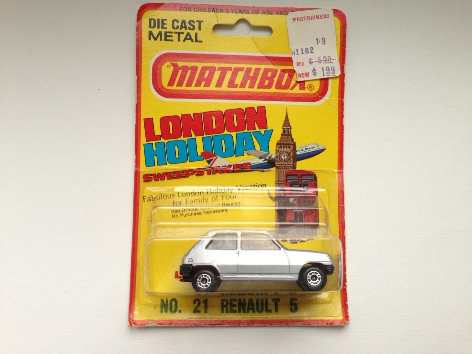 Matchbox Superfast No.21 Renault 5 TL TL TL silver im OVP Blister 6d3778