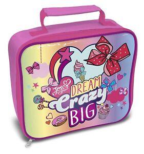 Jojo-Siwa-Bows-Dream-Crazy-Big-Lunch-Box-Bag-Brand-New-Gift
