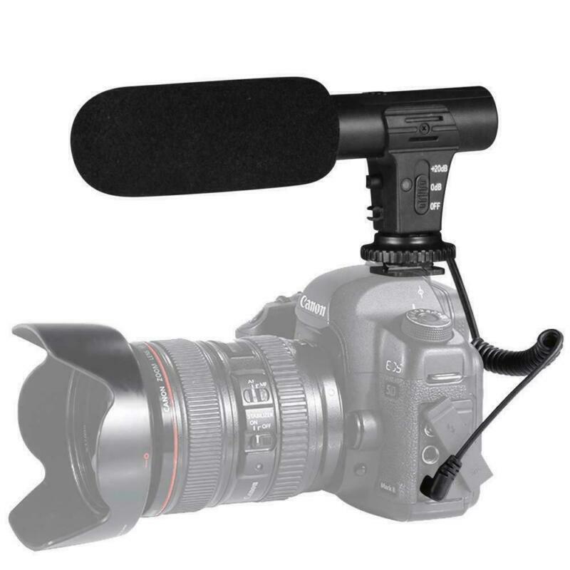 3.5mm External Interview Video Recording Camera Microphone 4 Nikon Canon DSLR DV