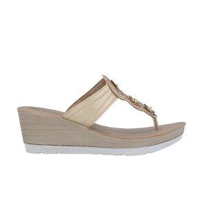 alta moda 100% autentico negozio più venduto INBLU Ciabatte infradito platino zeppa scarpe donna mod. EL2   eBay