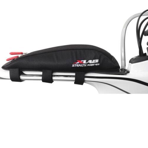 Xlab Stealth Pocket 400 Frame Bag-Black-Strap Mounted-Bicycle Pack-Triathlon-New