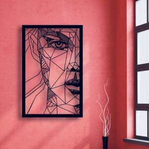 Abstract Woman Face Metal Wall Art Home Decor Hanging ...