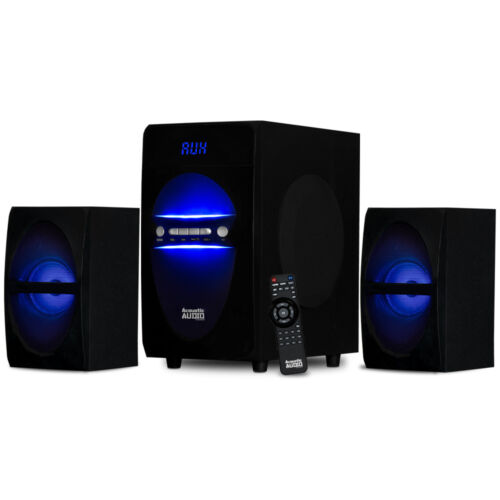 Acoustic Audio Bluetooth 2.1 Speaker System with LED Lights Multimedia Laptop