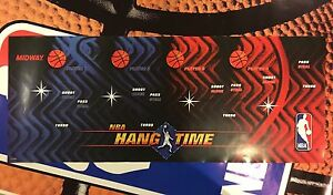 NBA-Hangtime-Arcade-Control-Panel-Overlay-CPO-Decal-Maximum-Hang-Time-Jam-Midway