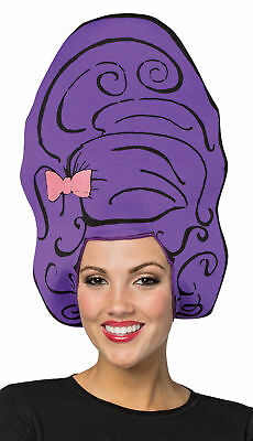 Purple Bouffant Adult Foam Wig Rasta Imposta