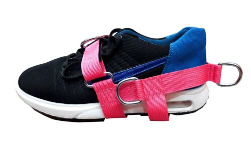Pink 5-D Ring Foot Strap Cable Gym Machine Attch Glute,Donkey Kickbacks Top Gym