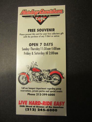 Harley Davidson Cafe New York City advertising brochure 56th street location