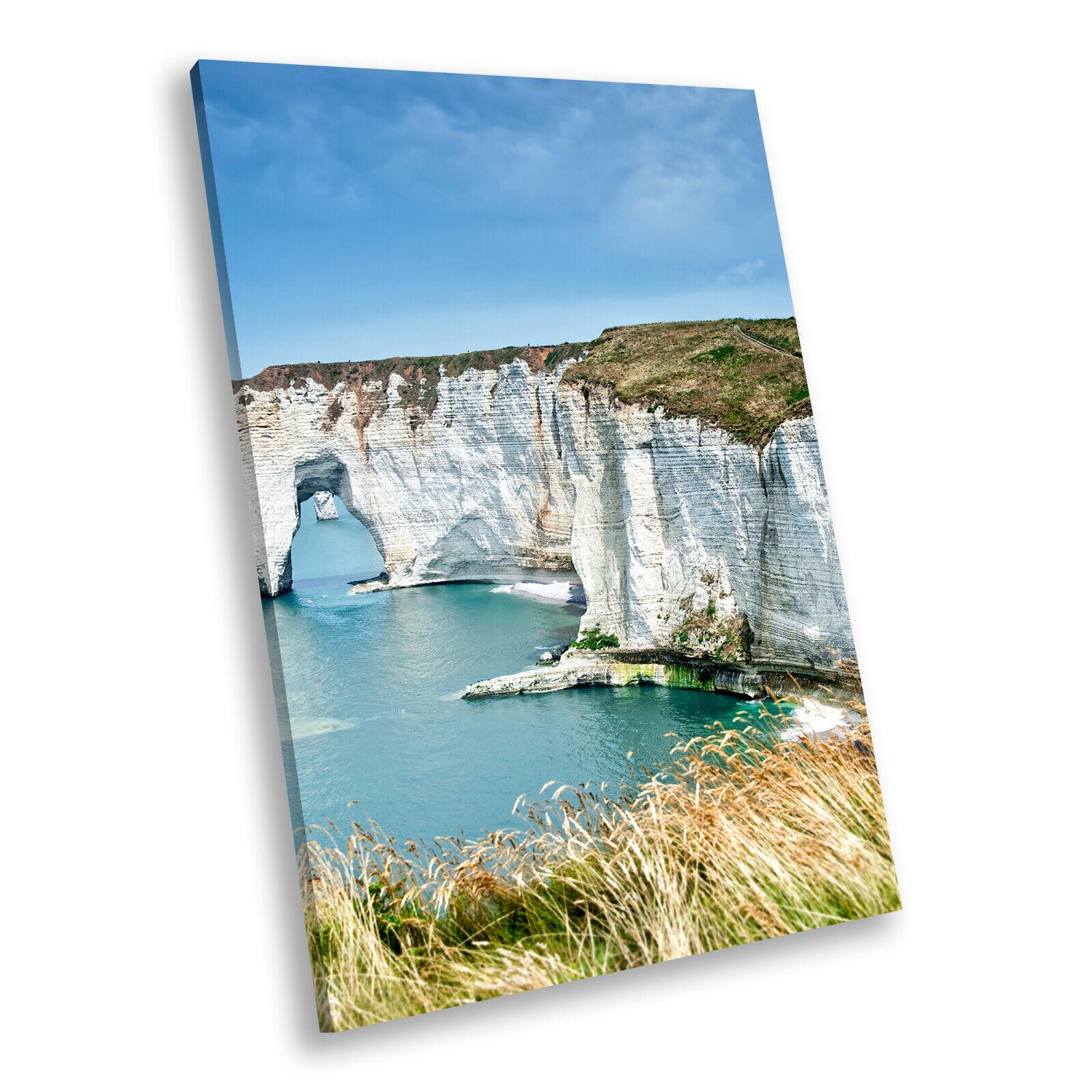 Blau Seaside Cliffs of Dover Portrait Scenic Canvas Wall Art Picture Prints