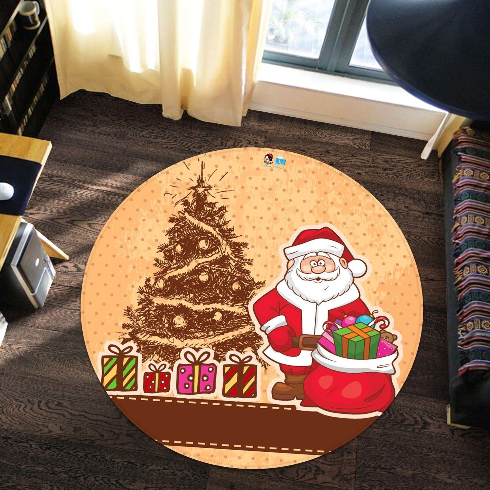 3D Weihnachten Xmas 627 627 627 Rutschfest Teppich Matte Raum Runden Elegant Teppich DE 4afeb1