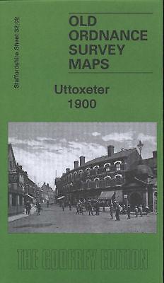 OLD ORDNANCE SURVEY MAP UTTOXETER 1900