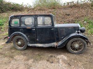 1934 Wolseley 9 pre war car barn find restoration project all original with v5c