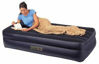 Intex Pillow Rest Twin Airbed With Built-in Electric Pump, Air Mattress, on sale
