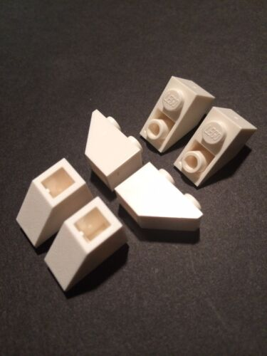 Lego New Lot of 48 White 1x2 Slope Inverted Bricks Roof Tile 1 X 2