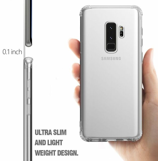 more photos bcc73 d0165 for Galaxy S9 Plus Exact Design Corner Protection Bumper TPU Case Clear