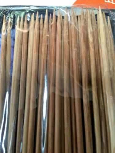 Deluxe Bamboo Skewers BBQ GRILL Skewer PACK OF 100 Bamboo Shish KebabsHYT