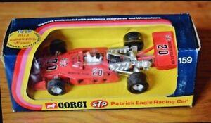 Jouets Corgi 159;   Voiture de course Patrick Eagle Indianapolis;   Boîte d'origine