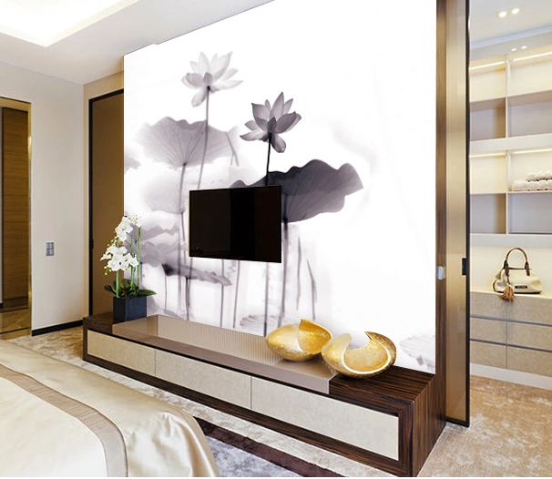 3D Misty Lake Lotus 152 Wall Paper wall Print Decal Wall Deco Wall Indoor Murals