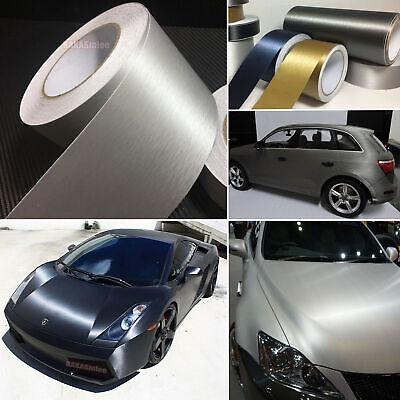 "3ft x 60/"" Silver brushed steel vinyl car wrap DIY sheet roll film satin decal"