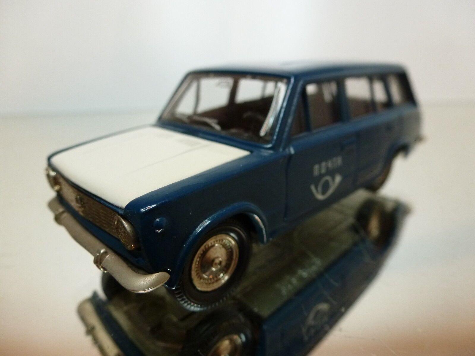 MADE IN USSR 2102  LADA COMBI-GAZ - blu + bianca 1 43 - EXCELLENT CONDITION - 2