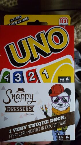 UNO Card Game Snappy Dressers Blink or LowDown 2 Card Games In One Choice of 1