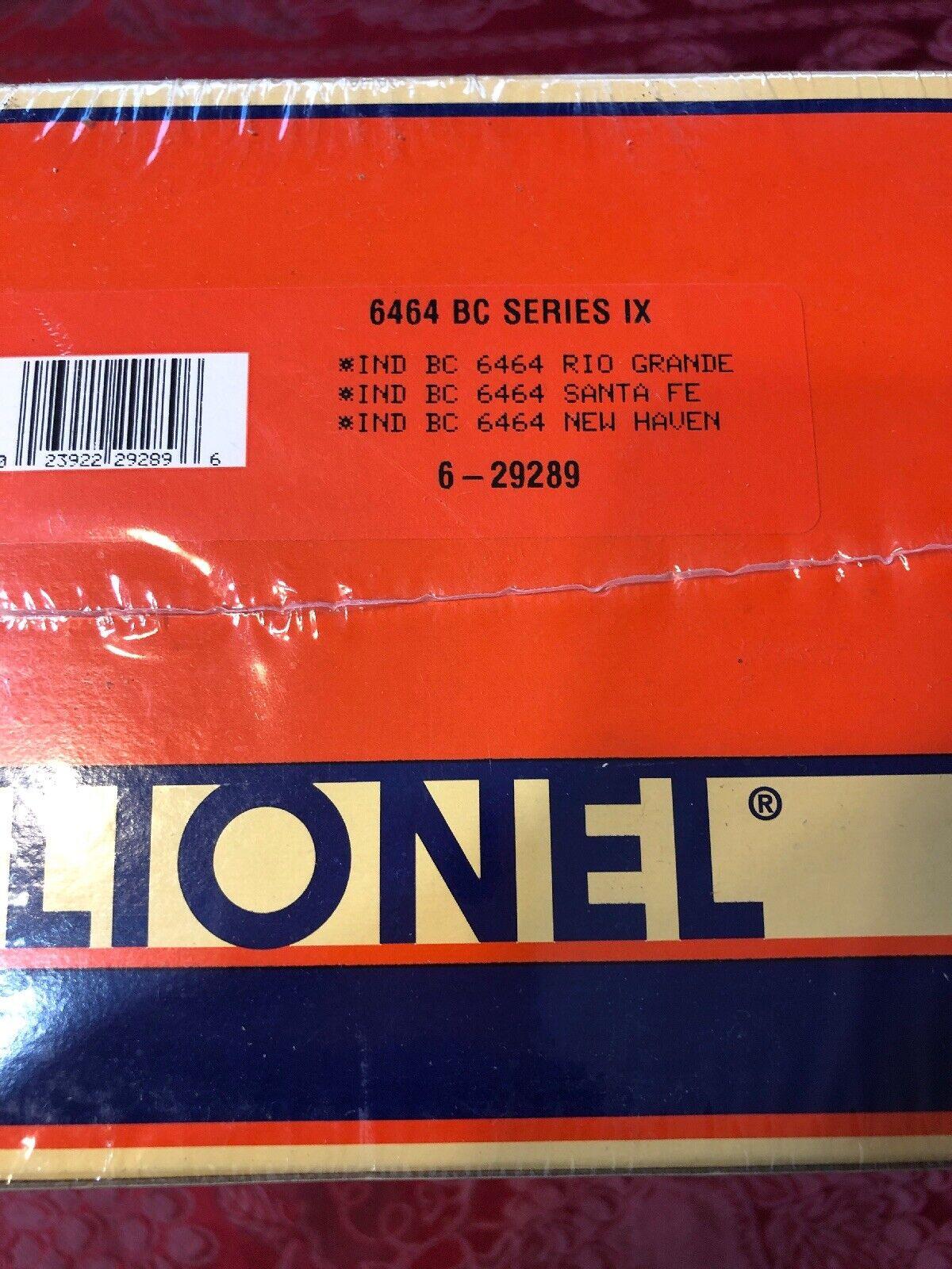 T2 Lionel  29289 6464 Box Car Series IX Rio Grande Sabra Fe New Heaven New