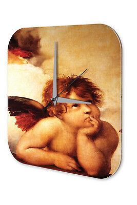 Deskundig Wanduhr Retro Motiv Engel Wolken Acryl Dekouhr Vintage