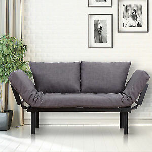 Homcom Modern Style Sofa Bed Futon Couch Sleeper Lounge Sleep Dorm