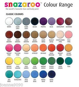 PROFESSIONAL-SNAZAROO-FACE-PAINT-MAKE-UP-CLASSIC-COLOURS-PAINTS-PAINTING-LOT