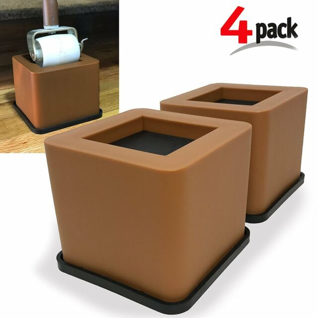 Groovy Bed Desk Couch Chair Leg Riser Lift 3 75 Black 4Pcs Durable Furniture Risers Frankydiablos Diy Chair Ideas Frankydiabloscom