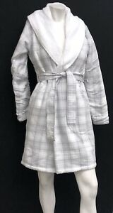 Image is loading UGG-Australia-Anika-Flannel-Check-Robe-Shawl-Collar- 03684bda6